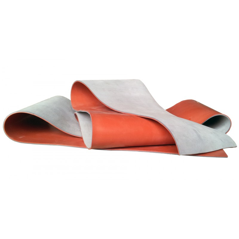 45 Shore A red/grey NR/R-2 Natural rubber membrane