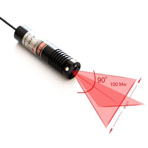 UNI16-CR100 (Red Cross 100mW) Line Laser Aflatek